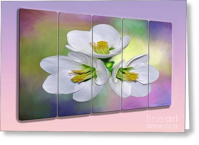 Spring Floral - Panel Art By Kaye Menner Greeting Card by Kaye Menner