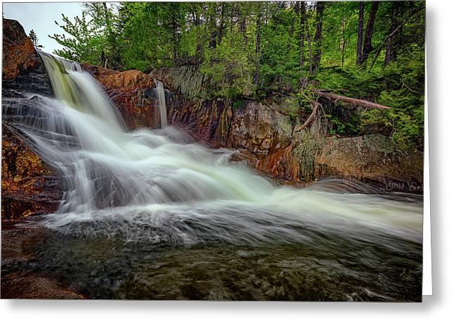 Spring Flow At Smalls Falls Greeting Card