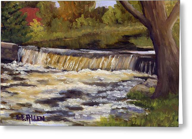 Spring Flow Greeting Card by Sharon E Allen