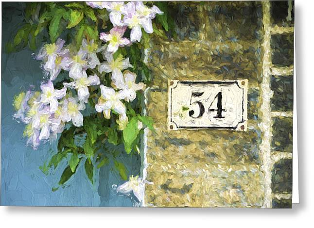 Spring Flowers At No. 54 Cambridge England Greeting Card