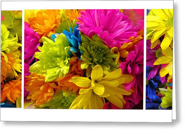 Spring Flowers Collage Greeting Card by Tina M Wenger