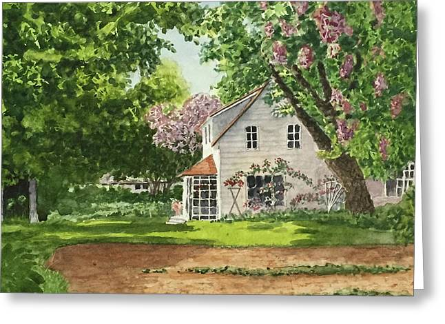 Spring Garden Greeting Card by Don Bosley