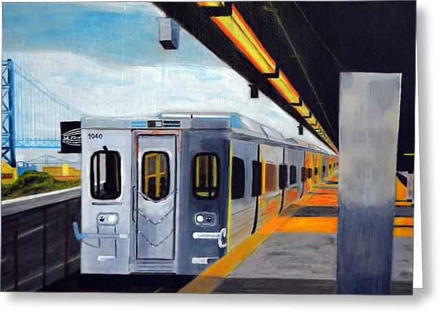 Spring Garden Station Greeting Card by Michael Walsh