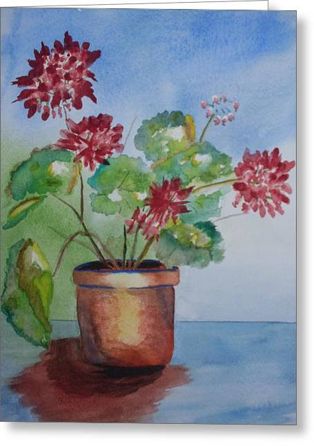 Spring Geranium 1  Greeting Card by Warren Thompson