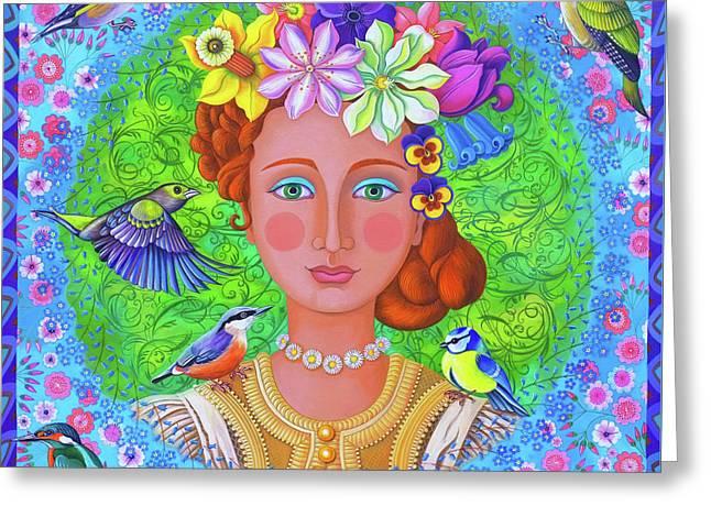 Spring Girl Greeting Card