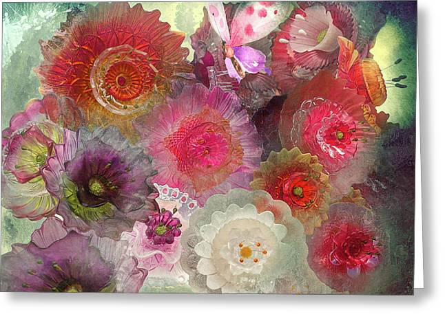 Spring Glass Greeting Card by Jeff Burgess