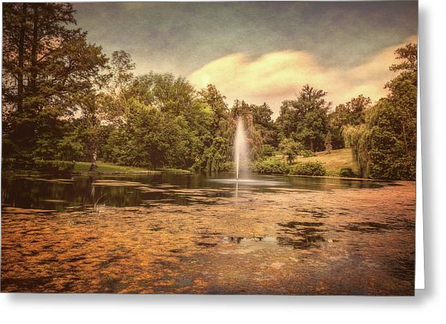 Spring Grove Water Feature Greeting Card