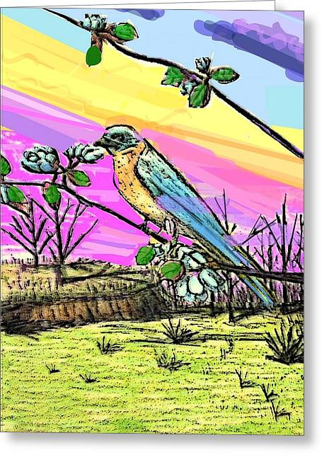 Spring Has Sprung Alternate Greeting Card by Larry E Lamb