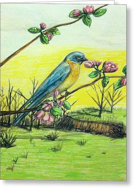 Spring Has Sprung Greeting Card by Larry Lamb
