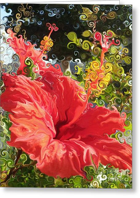 Spring Hibiscus Greeting Card