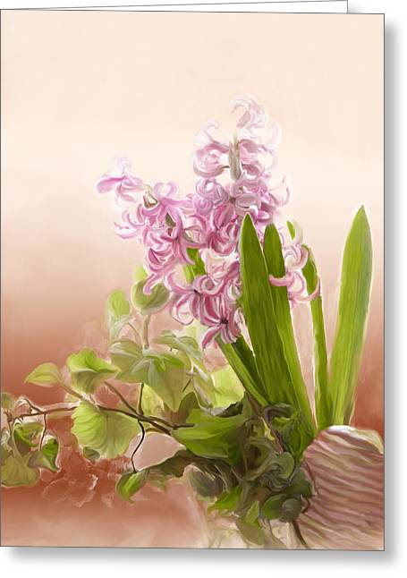 Spring Hyacinth Greeting Card