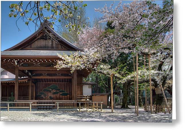 Spring In Edo Greeting Card