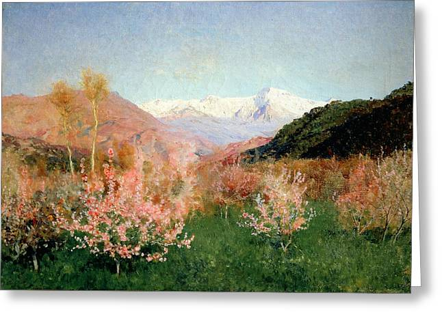 Spring In Italy Greeting Card by Isaak Ilyich Levitan