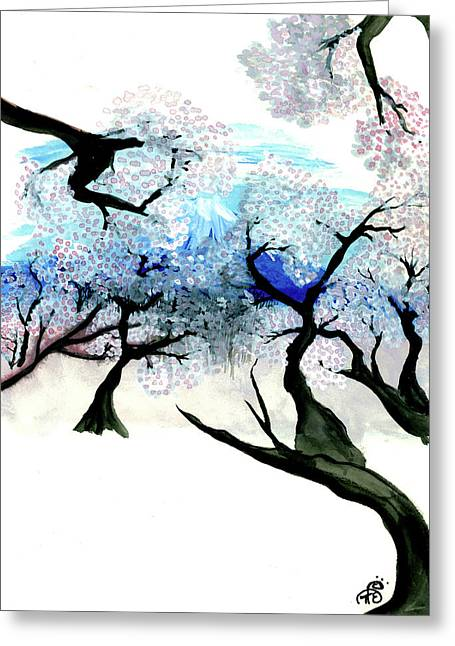 Spring In Japan Greeting Card by Tiphanie Erickson