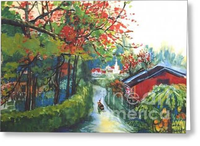 Spring In Southern China Greeting Card by Guanyu Shi