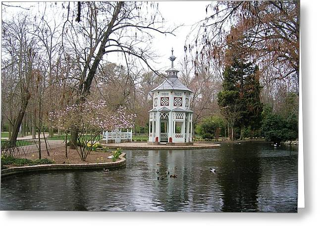 Spring In The Aranjuez Gardens Spain Greeting Card by Valerie Ornstein