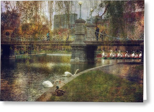 Spring In The Boston Public Garden Greeting Card