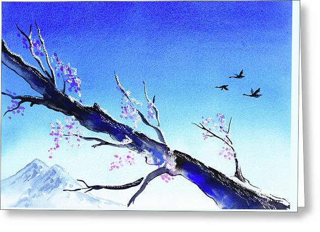 Spring In The Mountains Greeting Card