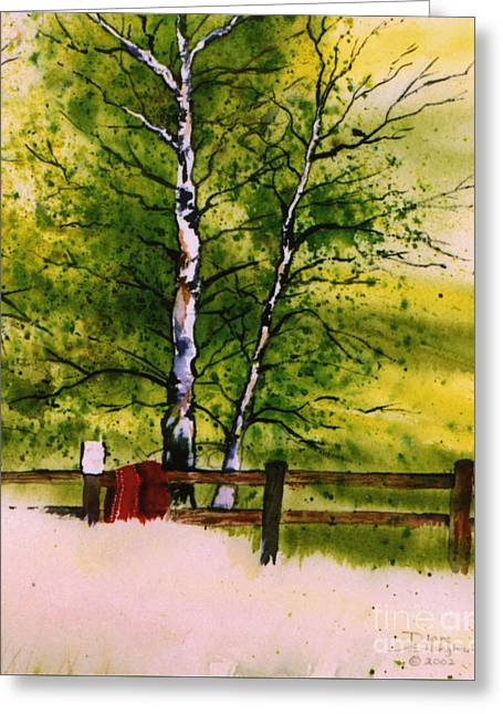 Spring In The Paddock Greeting Card