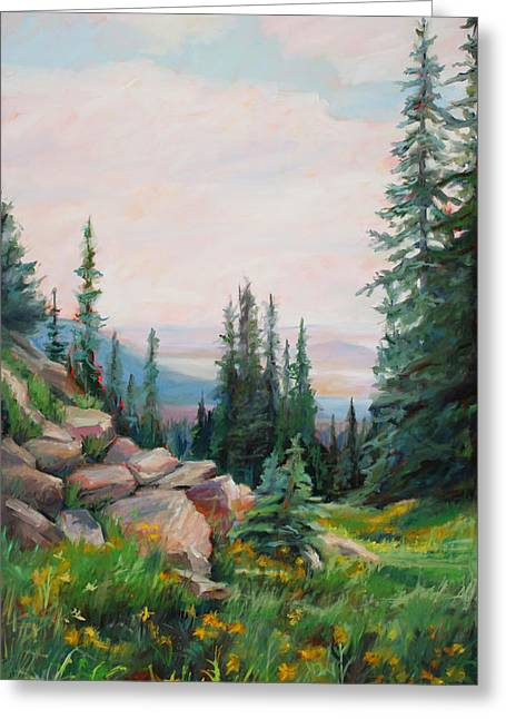 Spring In The Rockies Greeting Card by Marie Massey