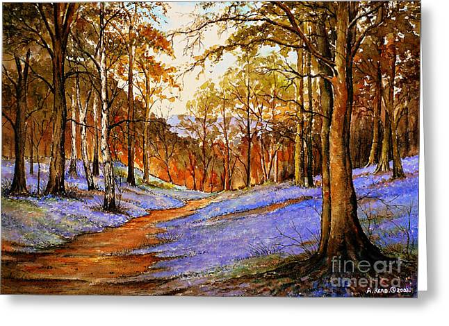 Spring In Wentwood  Warm Edit Greeting Card by Andrew Read