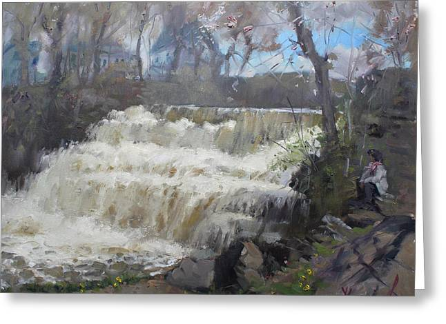 Spring In Williamsville Falls Greeting Card