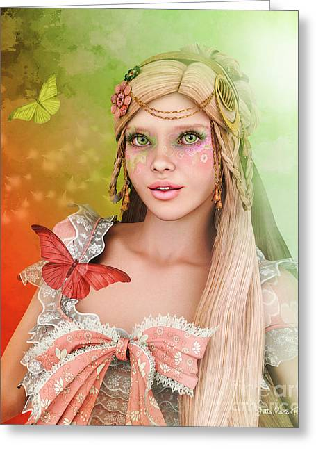 Greeting Card featuring the digital art Spring Is In The Air by Jutta Maria Pusl