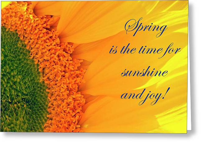 Spring Is The Time Greeting Card
