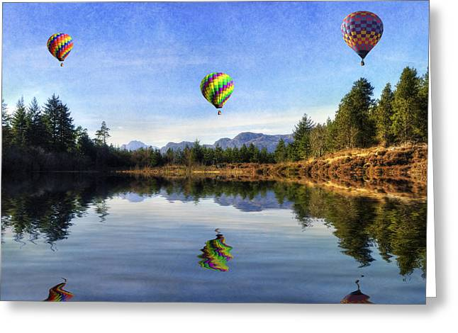 Spring Lake Greeting Card by Ian Mitchell
