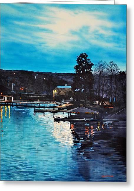 Spring Lake Nocturn Greeting Card