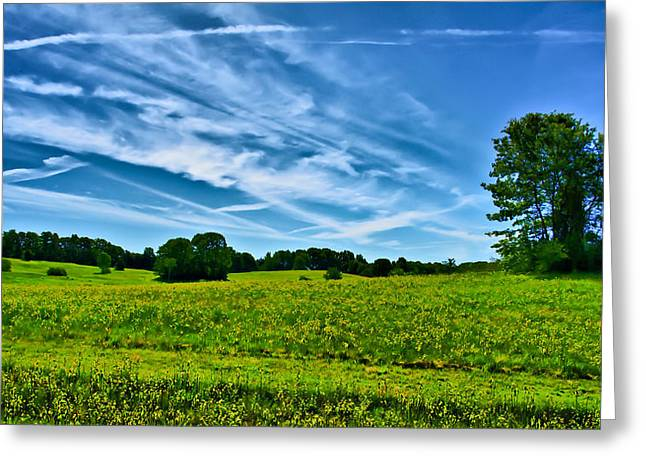 Spring Landscape In Nh Greeting Card by Edward Myers