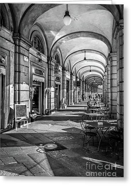 Spring Light In Porticos Greeting Card