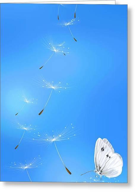 Spring Lightness Greeting Card by Veronica Minozzi