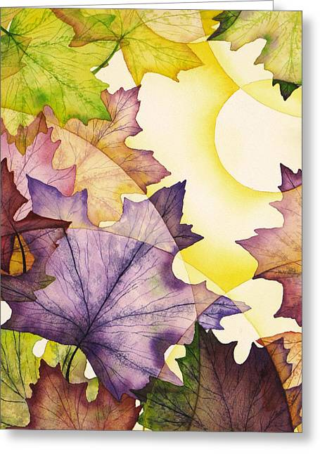Spring Maple Leaves Greeting Card by Christina Meeusen