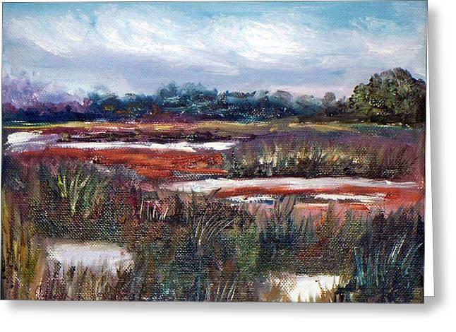 Spring Marsh Greeting Card by Carol Sprovtsoff
