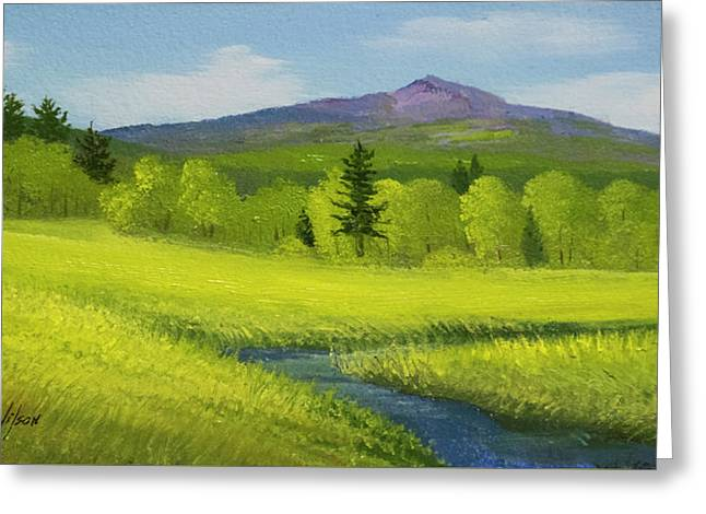 Greeting Card featuring the painting Spring Meadow Brook by Frank Wilson