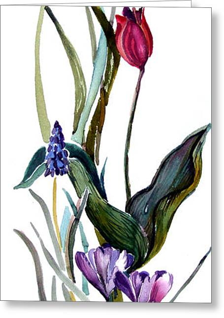 Spring Mix Greeting Card by Mindy Newman