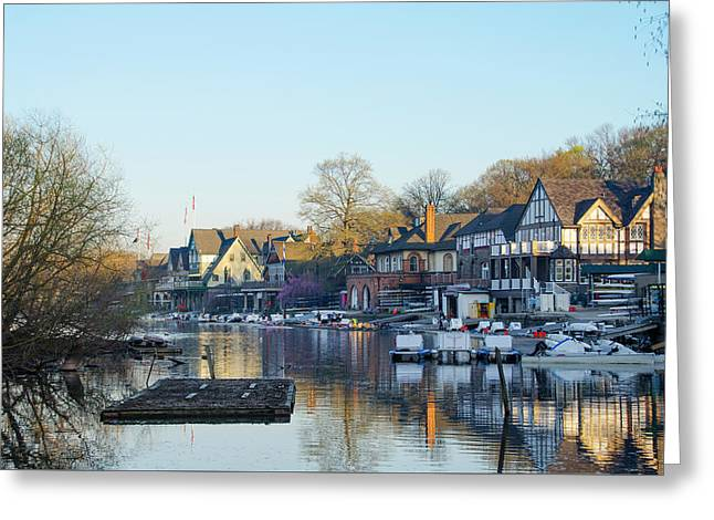 Spring Morning At Boathouse Row Greeting Card
