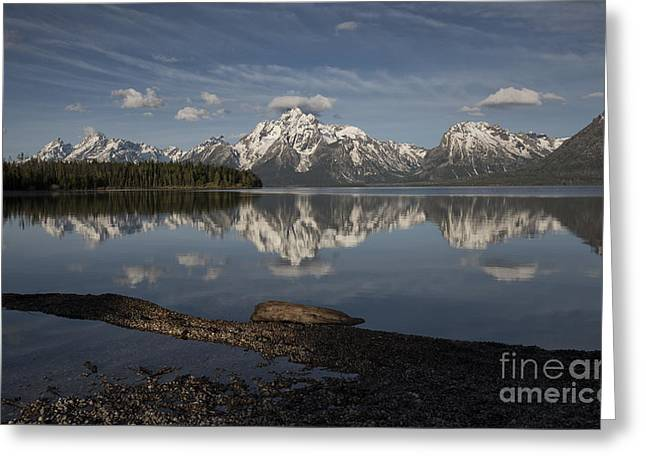 Spring Morning At Colter Bay - Grand Teton National Park Greeting Card by Sandra Bronstein