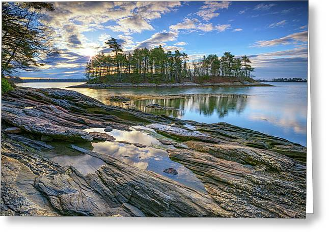 Spring Morning At Wolfe's Neck Woods Greeting Card by Rick Berk