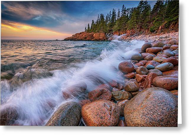Spring Morning In Acadia National Park Greeting Card by Rick Berk