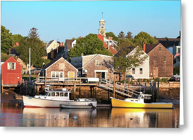 Spring Morning In Portsmouth South End Greeting Card by Eric Gendron