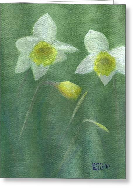 Spring Morning Greeting Card by Laurel Ellis