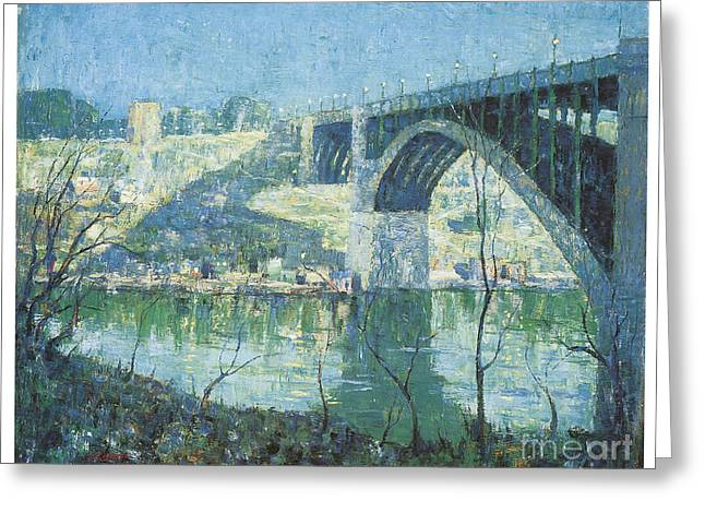 Spring Night Over Harlem River Greeting Card by Celestial Images