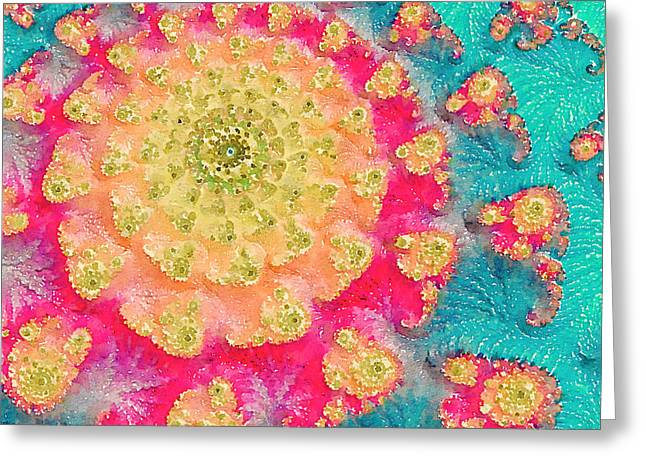 Greeting Card featuring the digital art Spring On Parade 2 by Bonnie Bruno