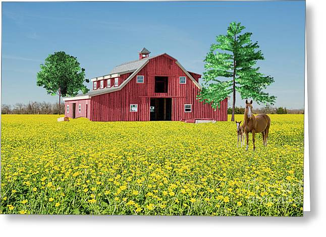 Greeting Card featuring the photograph Spring On The Farm by Bonnie Barry