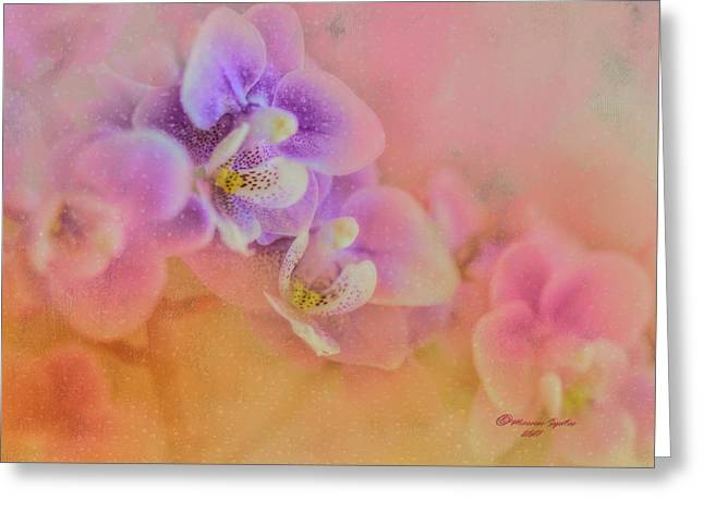 Spring Orchids Greeting Card