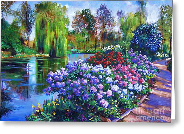 Spring Park Greeting Card by David Lloyd Glover