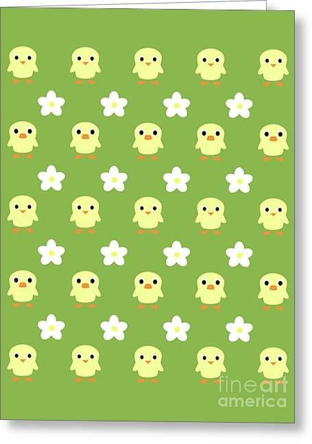 Spring Pattern Greeting Card