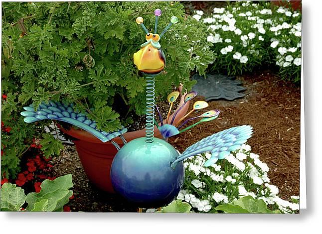 Spring Peacock Greeting Card by LeeAnn McLaneGoetz McLaneGoetzStudioLLCcom
